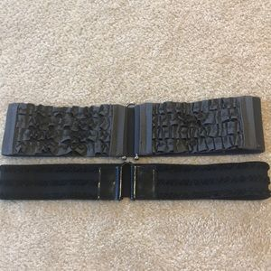 Accessories - New! Set of 2 Stretchy Belts